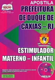 Apostila SME Duque de Caxias para o cargo de Estimulador Materno - Infantil.