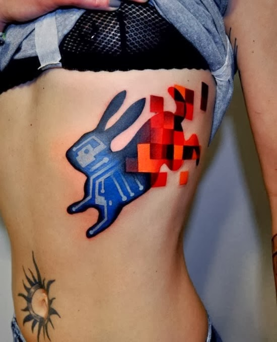 Ops the rabbit! Cute tattoo idea for girls.
