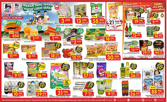 #Superindo - #Promo #Katalog Weekday Periode 01 - 04 April 2019