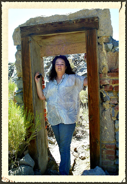 Janalyn Voigt at Bodie in Doorway
