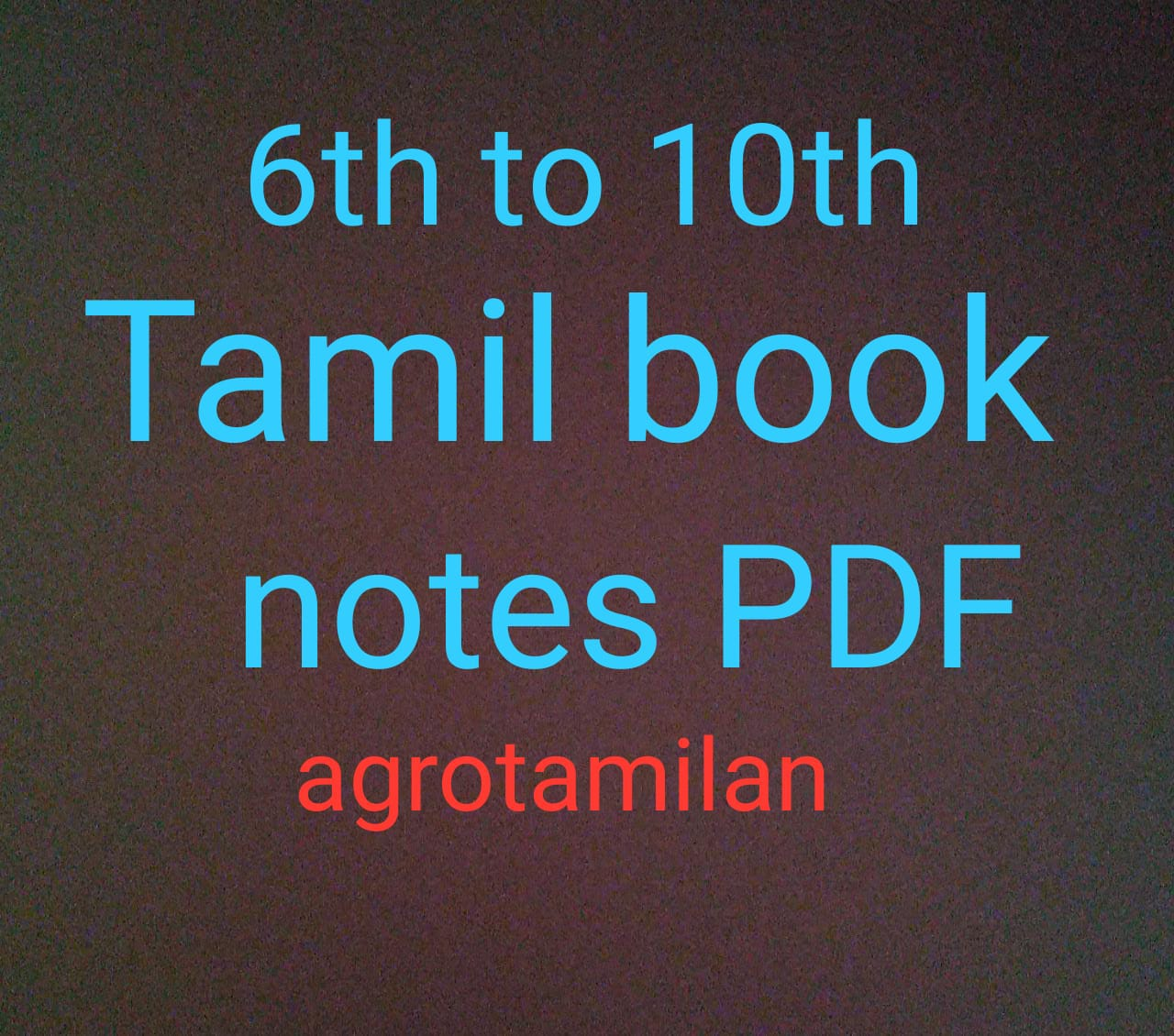 Samacheer kalvi 6th to 10th books