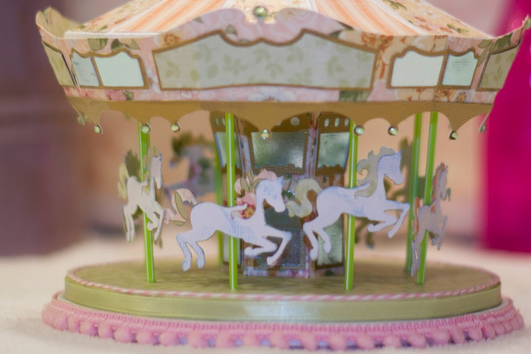3d paper carousel ride
