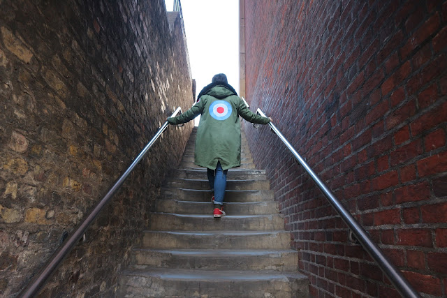 blogger, mod, fashion, parka, raf, patch, bricks