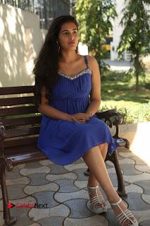 Actress Prasanna Stills in Blue Short Dress at Inkenti Nuvve Cheppu Movie Platinum Disc Function  0165.JPG