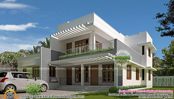 Contemporary mix 5 bedroom house in Ernakulam, Kerala