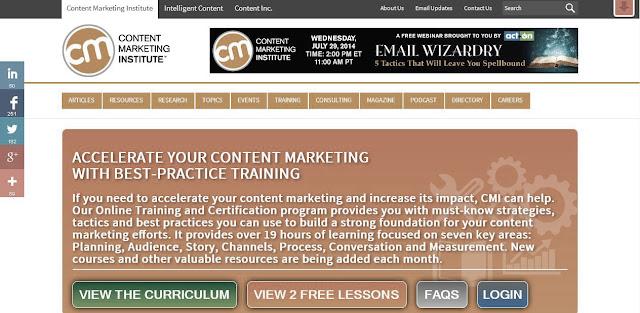 Certificado online en Marketing Digital de Content Marketing Institute