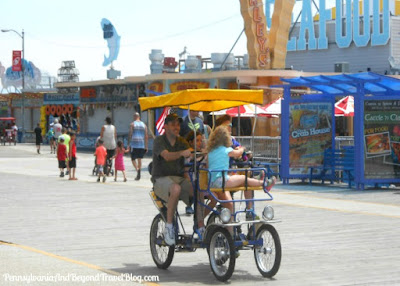 Bike Riding on the Wildwood Boardwalk in New Jersey