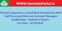 District Cooperative Central Bank Recruitment