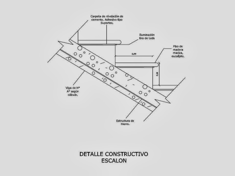 Dise a estudio dise o c lculo y detalles constructivos for Como hacer gradas