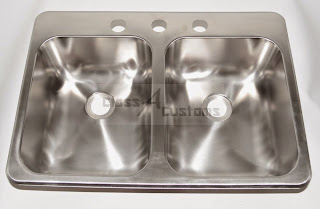 25 x 17 x 5 Stainless Steel Sink Double bowl 3 holes by Heng's