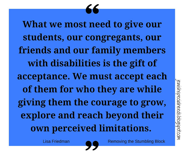 The gift of acceptance; Removing the Stumbling Block