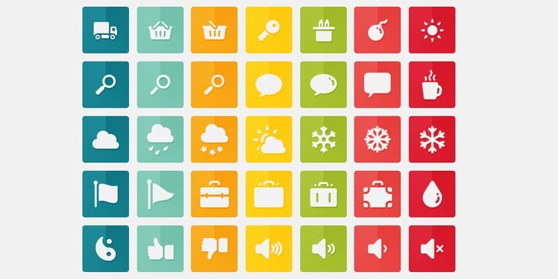 105 Free Flat Design Icons