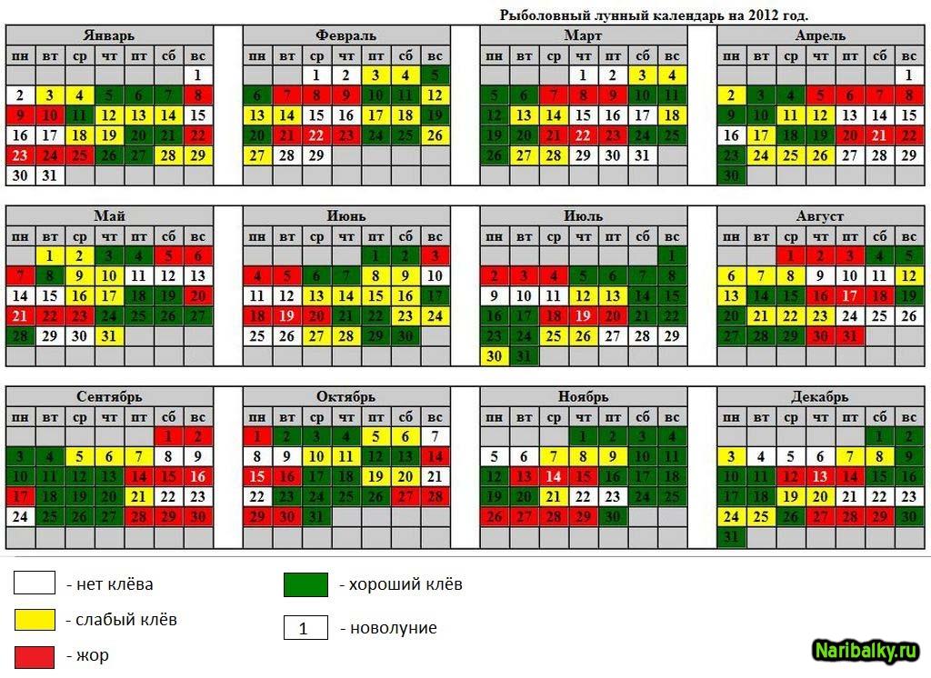 Лунный календарь рыбака на август 2018 года