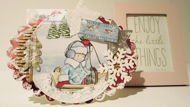 Imagen principal de la tarjeta navideña con forma para LPC