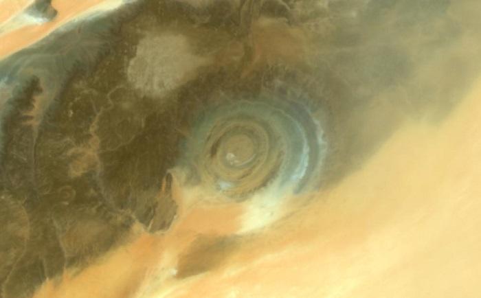 Richat Structure - Giant Blue Eye of Sahara Desert