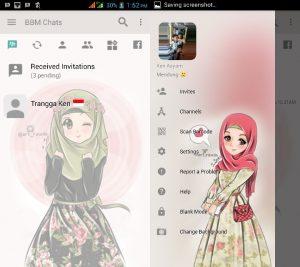 BBM MOD Tema Hijab v3.3.0.16 APK Versi Terbaru