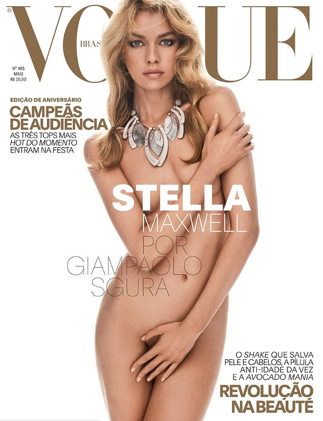 Stella Maxwell strips nude for Vogue Brazil