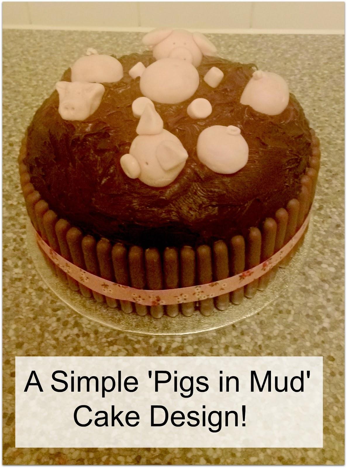 Cake Decorating Mud Cake Recipe : Easy Cake to Decorate: Pigs in Mud The Parent Game