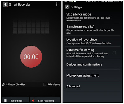 Smart Voice Recorder  User Interface