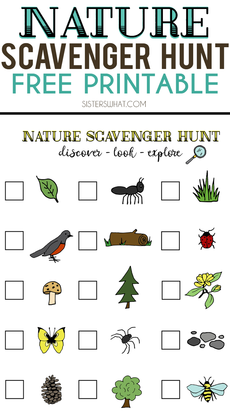 Persnickety image with printable scavenger hunt for kids