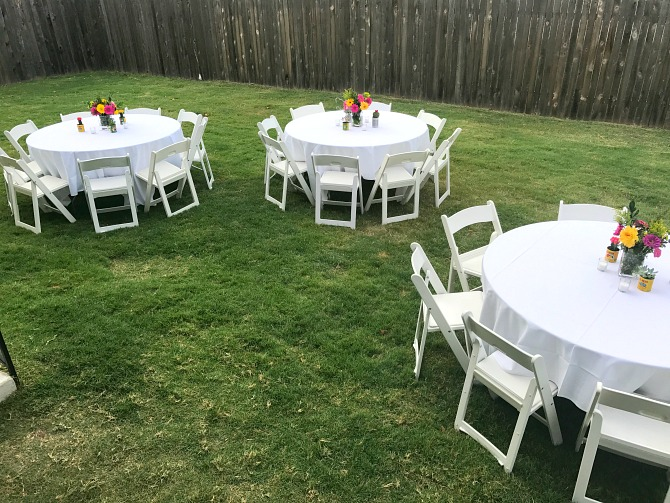 Backyard Table Setup