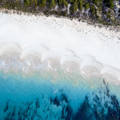 bunker bay, augusta, margaret river, dunsborough, meelup beach, aerial photography, white sand