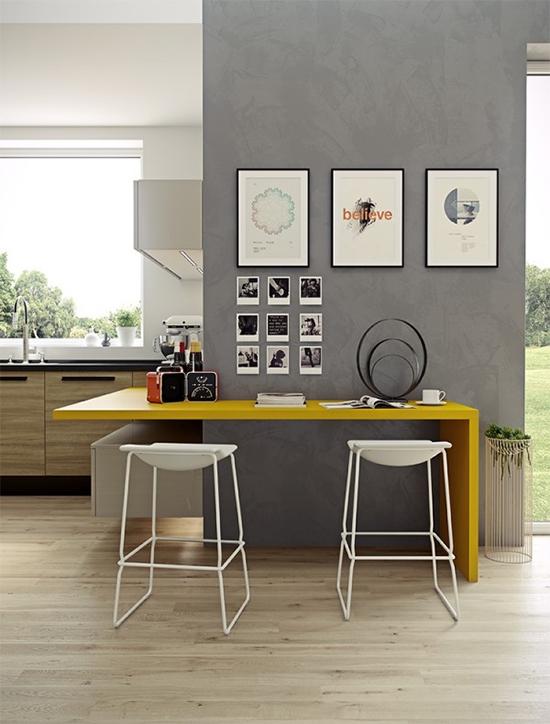 cozinha decorada, cozinha, parede cinza, a casa eh sua, acasaehsua, decor, home decor, interior, decoração