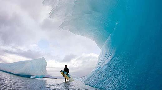 Las olas congeladas de la Antártida ¿Cómo pueden congelarse las ondas así?
