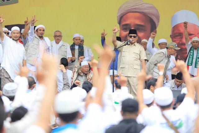 Dihadapan Ulama, Prabowo Janji Kembalikan Indonesia ke Jalan yang Benar