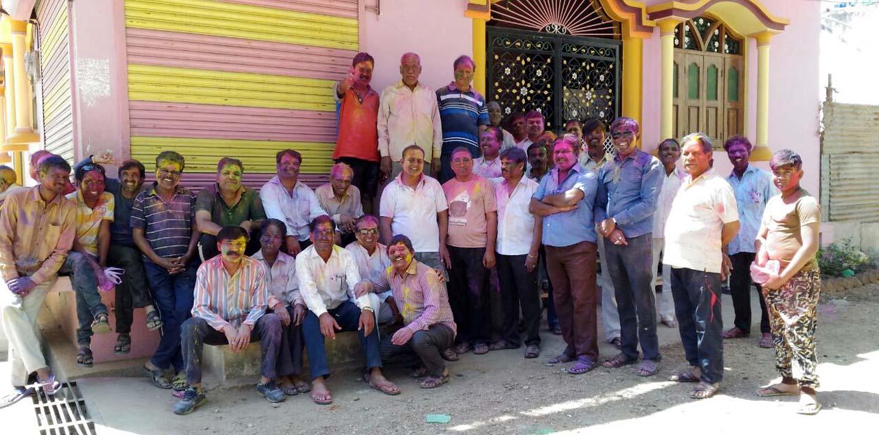 Holi-ceremony-of-Lakshminagar-Vikas-Samiti-tomorrow-धुलेंडी पर सूखे रंगों से कॉलोनीवासियों ने खेली होली