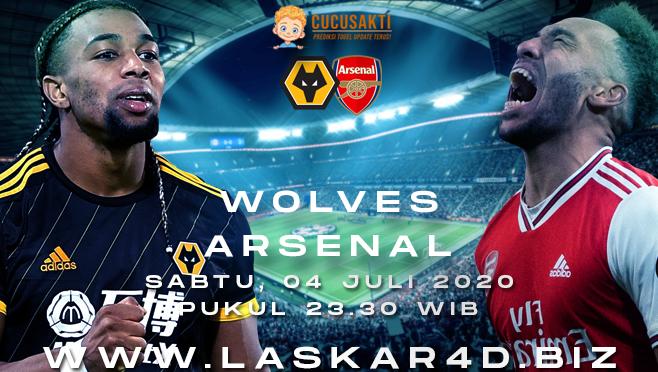 Prediksi Bola Wolves vs Arsenal Sabtu 04 Juli 2020