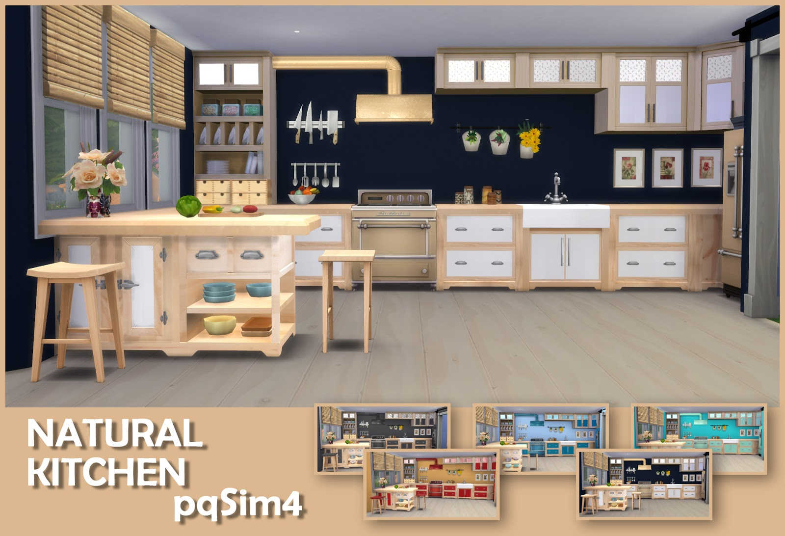sims 4 cc's - the best: natural kitchen by pqsim4, Badezimmer ideen
