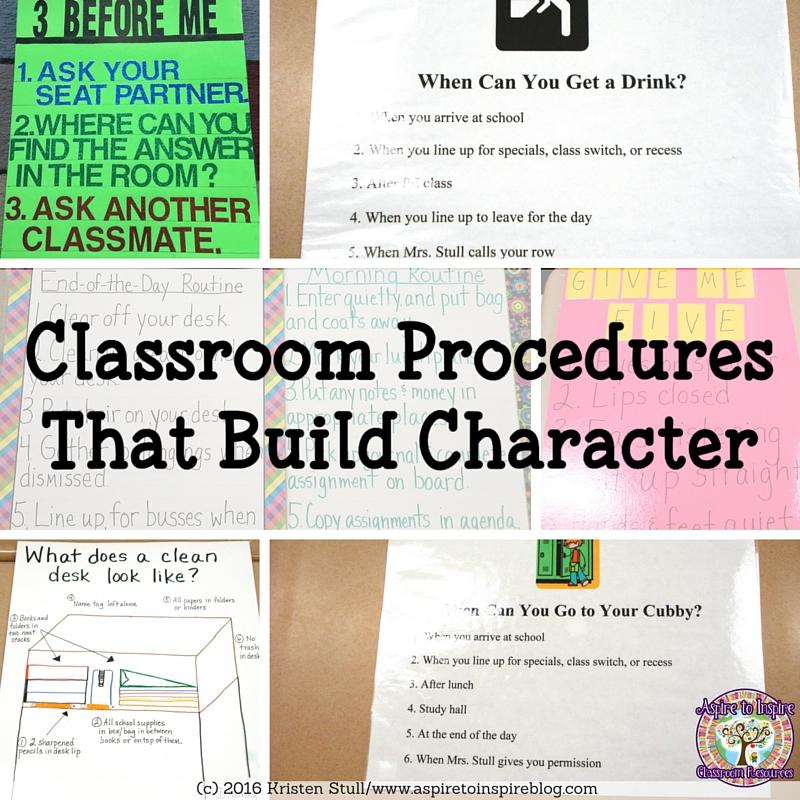 Aspire to Inspire Classroom Resources: Classroom Procedures