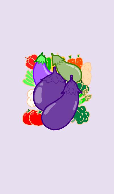 Theme Vegetable Series Aubergine