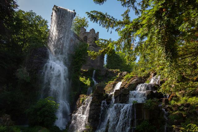 cascades in the Bergpark Wilhelmshohe