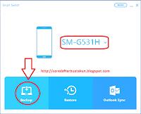 cara backup data kontak bbm android