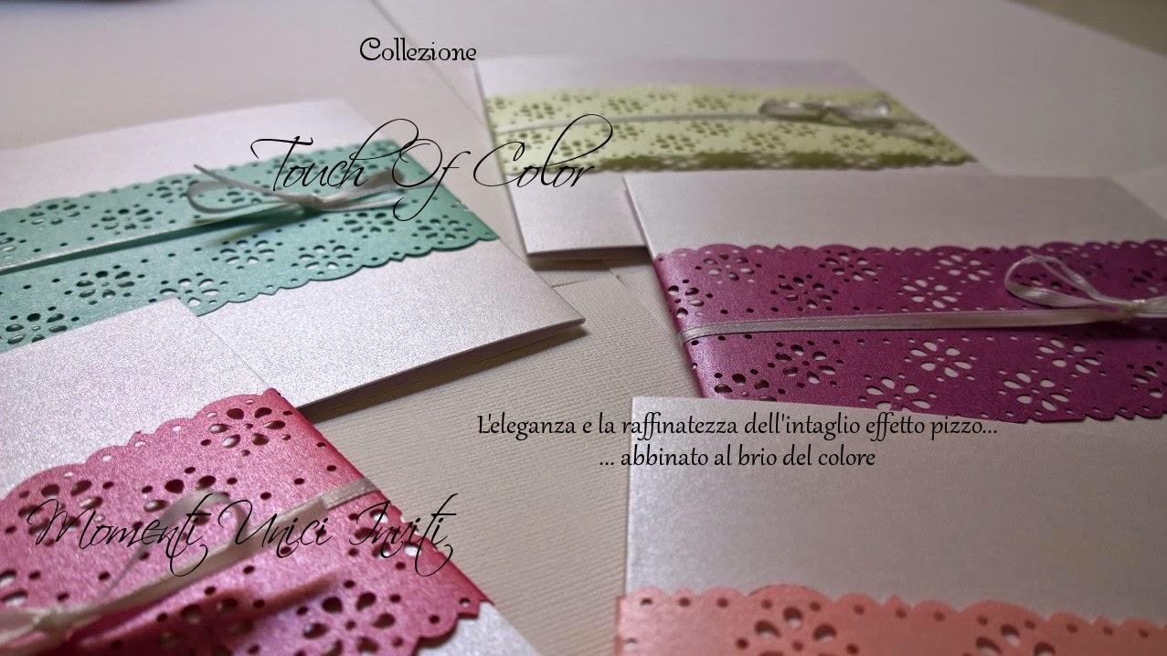 touch Collezione Touch of Color - novità 2015Colore Fucsia Colore Malva Colore Rosa Colore Tiffany Colore Verde Colore Verde Menta Colore Viola Partecipazioni intagliate