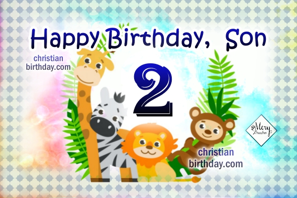 Christian Birthday Card For My Little Son Boy Baby Happy Wishes