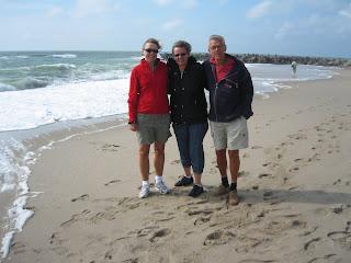 Kamma, Jette og Thorkild ved Vesterhavet