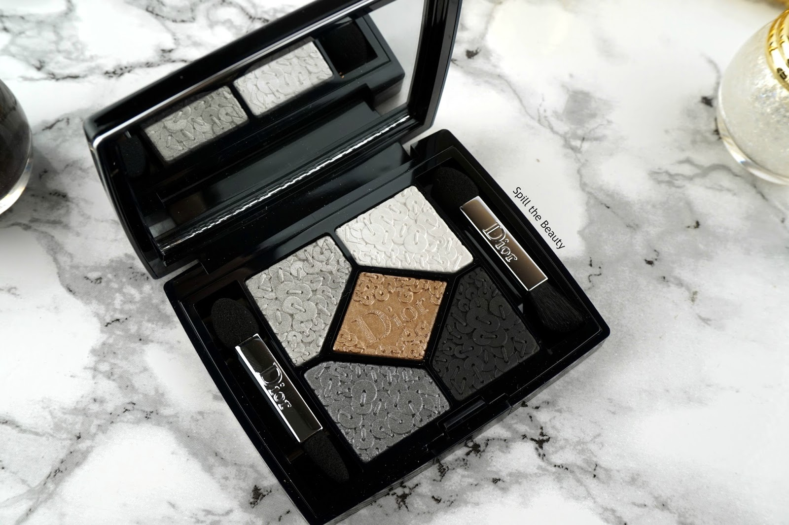 dior holiday makeup 2016 8 review swatch 5 couleurs splendor palette smoky sequins