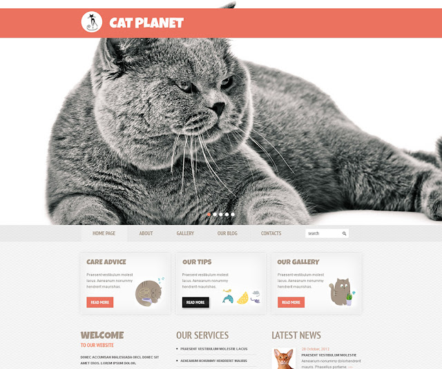 Free Cherry WordPress Theme for Cat Site
