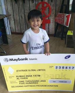 Bantuan dari member Ethtrade Malaysia untuk Rumah anak yatim