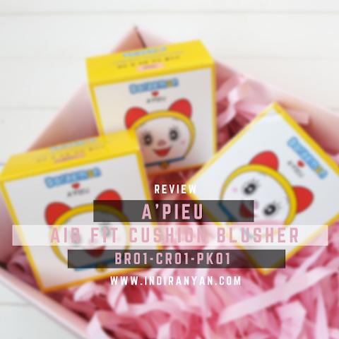 [REVIEW] A'Pieu Air Fit Cushion Blusher Doraemon Edition - #BR01 #CR01 #PK01