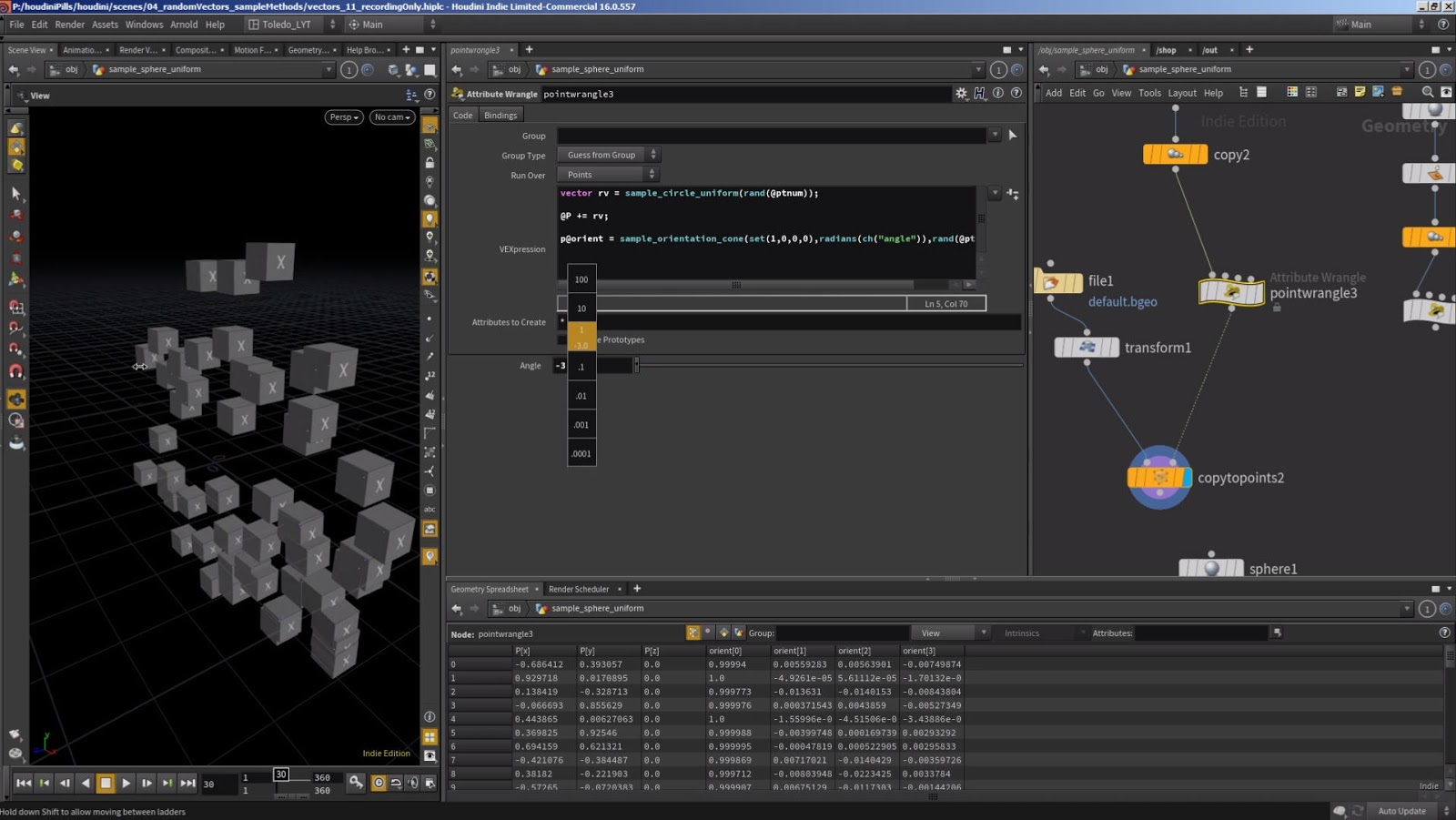 How to Random vectors using the sample functions in Houdini | CG ...