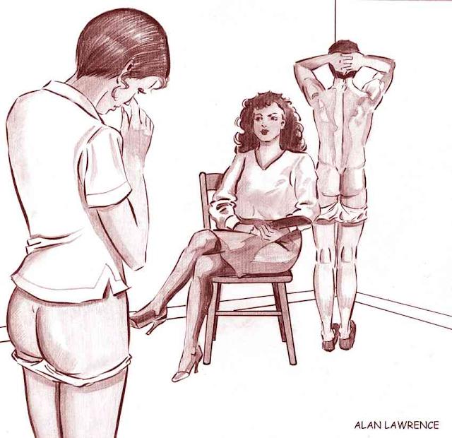 Divorce femdom drawings