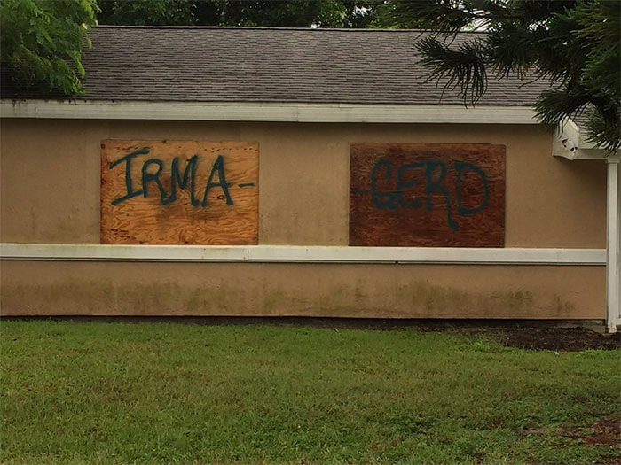 20 Funny Pictures About Hurricane Irma That Prove Floridians Haven't Lost Their Sense Of Humor - 'Irma Gerd' - Someone In Port St. Lucie Gets It