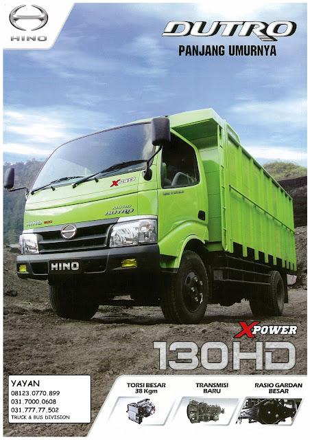 brosur truk hino dutro 130 hd xpower