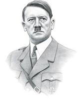 Dessin d'Adolf Hitler.