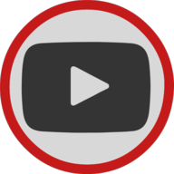 youtube button outline