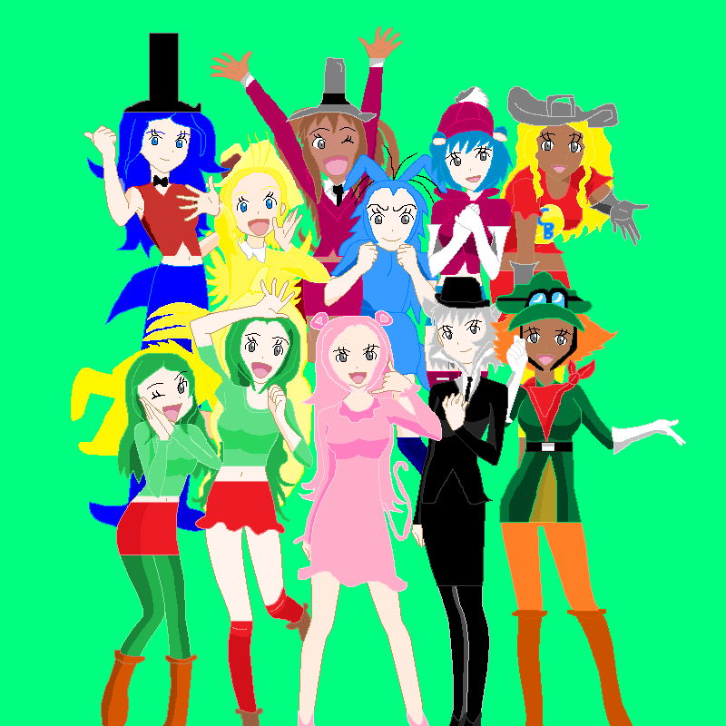 anime base the pink panther and pals human female